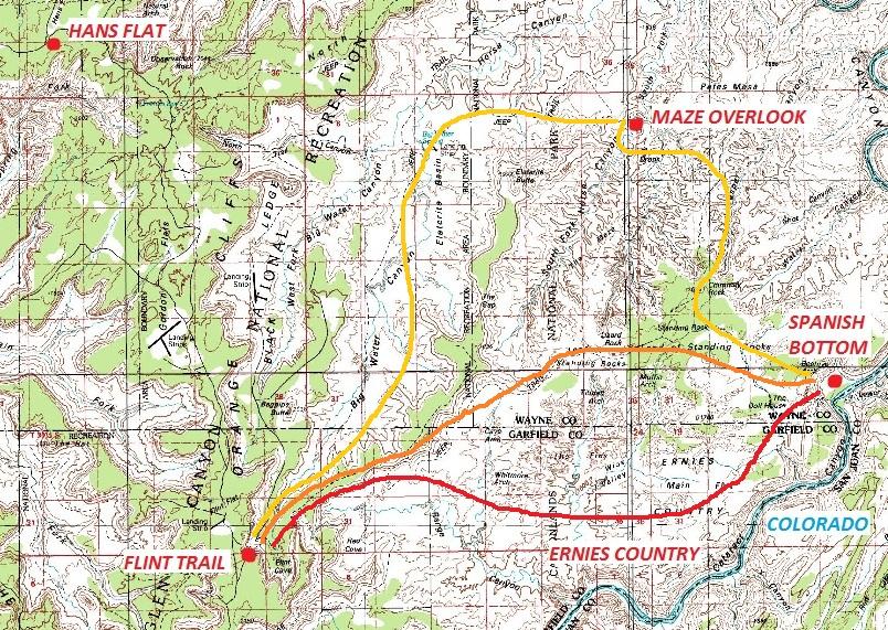 Daniel Wesemann Canyonlands Maze District Ernies Country